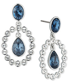 Givenchy Crystal & Stone Orbital Drop Earrings