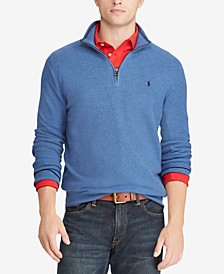 Men's Textured Half-Zip Sweater