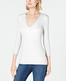 INC Petite V-Neck Top, Created for Macy's