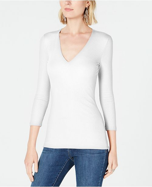 INC International Concepts INC Petite V-Neck Top, Created for Macy's