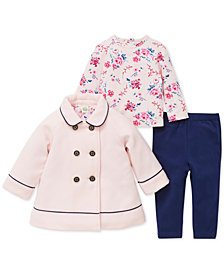 Little Me Baby Girls 3-Pc. Swing Jacket, Top & Leggings Set