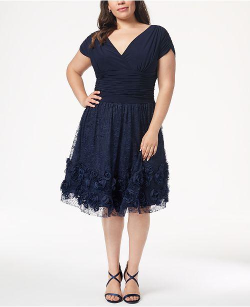 befd3d5644c SL Fashions Plus Size Rosette Fit   Flare Dress   Reviews - Dresses ...