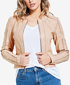 GUESS Ivonne Faux-Leather Moto Jacket