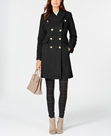 Anne Klein Double-Breasted Peacoat