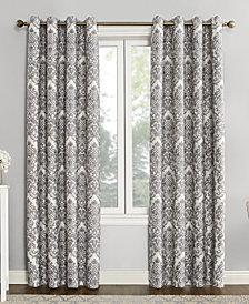 "Sun Zero Courtney 52"" x 84"" Damask Blackout Lined Grommet Curtain Panel"