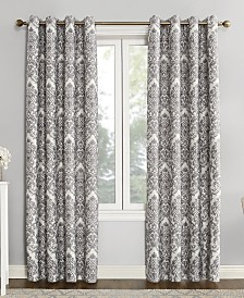 "Sun Zero Courtney 52"" x 95"" Damask Blackout Lined Grommet Curtain Panel"