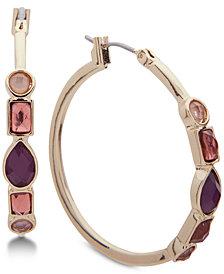 Nine West Stone Hoop Earrings
