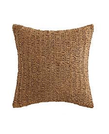 "Oceanfront Resort Coco Paradise Raffia 18"" x 18"" Decorative Pillow"