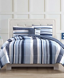 My World Mason Stripe Full Comforter Set