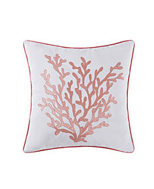 "Oceanfront Resort Cove Coral 18"" Square Decorative Pillow"