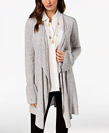 Style & Co Petite Ruffle-Sleeve Cardigan, Created for Macy's