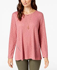 Waffle-Knit Top, Created for Macy's