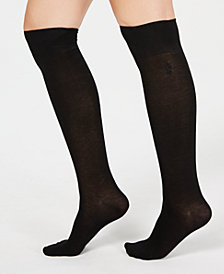 Lauren Ralph Lauren Solid Knee-High Socks