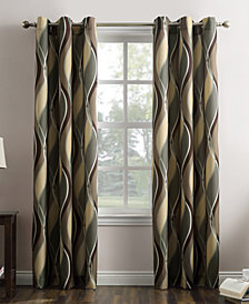"Lichtenberg Intersect Printed Grommet Curtain 48"" x 95"" Panel"