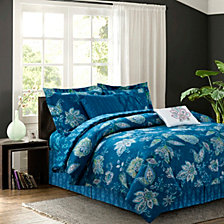 Jaipur Teal 7-Piece Comforter Set, Full