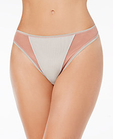 Cosabella Mixed-Mesh High-Leg Thong MIXMS0361