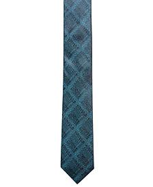 Alfani Men's Plaid Slim Silk Tie, Created for Macy's