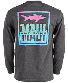 Maui And Sons Men's Shark Out Of Water Logo Graphic T-Shirt