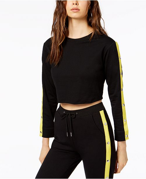 bc10cd1f6a2516 Waisted Ally Tracksuit Crop Top & Reviews - Tops - Juniors - Macy's