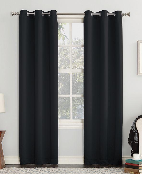 "Sun Zero Preston 40"" x 63"" Grommet Top Blackout Curtain Panel"