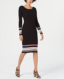 Bar III Ribbed-Knit Midi Sweater Dress, Created for Macy's