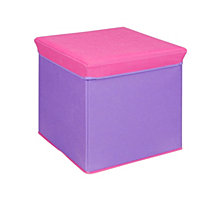 Storage Ottoman, Purple