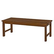 Acacia Wood Patio Dining Bench
