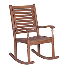 Solid Acacia Wood Outdoor Patio Rocking Chair