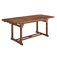 Acacia Wood Outdoor Patio Butterfly Table - Dark Brown