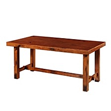 Distressed Dark Oak Wood Kitchen Dining Table