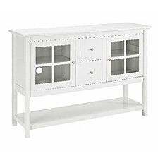 "52"" Wood Console Table Buffet TV Stand - White"