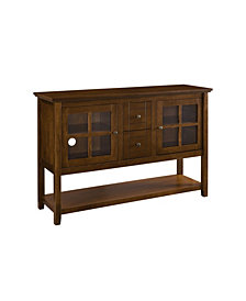 "52"" Wood Console Table Buffet TV Stand - Walnut"