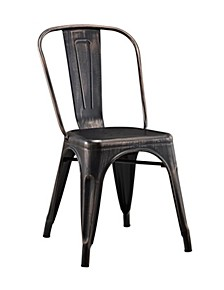Stackable Metal Café Bistro Chair - Antique Black