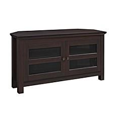 "44"" Wood Corner TV Media Stand Storage Console - Espresso"