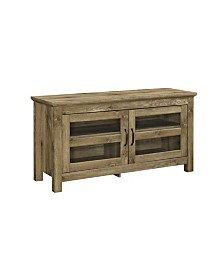 "44"" Wood TV Media Stand Storage Console - Barnwood"