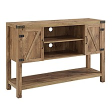 "52"" Rustic Farmhouse Barn Door Buffet TV Stand - Barnwood"