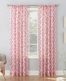 Lichtenberg Shiro Ikat Crushed Sheer Curtain Collection