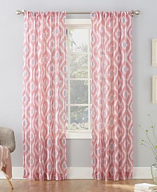 "CLOSEOUT! Lichtenberg Shiro Ikat Crushed Sheer 50"" x 95"" Panel"