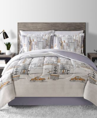 New York Reversible 6-Pc. Twin Comforter Set