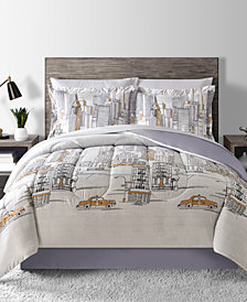 Fairfield Square Collection New York Reversible 8-Pc. Queen Comforter Set