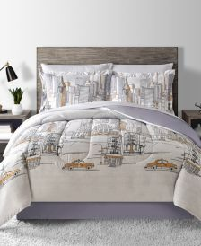 New York Reversible 8-Pc. Queen Comforter Set