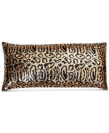 "THRO Chi Chi Cheetah Faux Silk Sequin 12"" x 24"" Decorative Pillow"