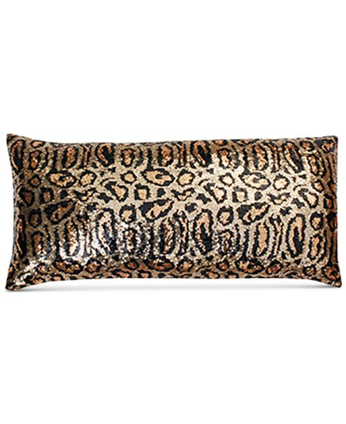 THRO Chi Chi Cheetah Faux Silk Sequin 40 X 40 Decorative Pillow Enchanting Faux Silk Decorative Pillows