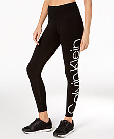 Calvin Klein Performance Jumbo-Logo High-Rise Leggings