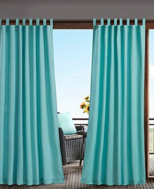 Tybee Tab Top Solid Tab Top 3M Scotchgard Outdoor Curtain Collection