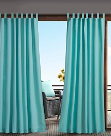 "Madison Park Tybee 54"" x 84"" Tab Top Solid Tab Top 3M Scotchgard Outdoor Curtain"
