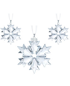 Swarovski 2018 Christmas Ornament 3-Pc. Set