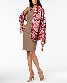 I.N.C. Jacquard Evening Wrap, Created for Macy's