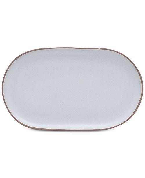 Mikasa Delta Grey  Oval Platter