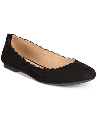 Odette Scalloped Ballet Flats by General